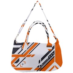 Abstract Art Pattern Removal Strap Handbag