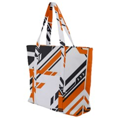 Abstract Art Pattern Zip Up Canvas Bag
