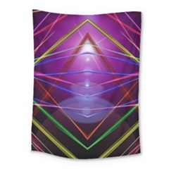 Disco Laser Rays Dance Medium Tapestry