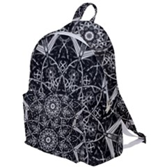 Black And White Pattern Monochrome Lighting Circle Neon Psychedelic Illustration Design Symmetry The Plain Backpack by Vaneshart