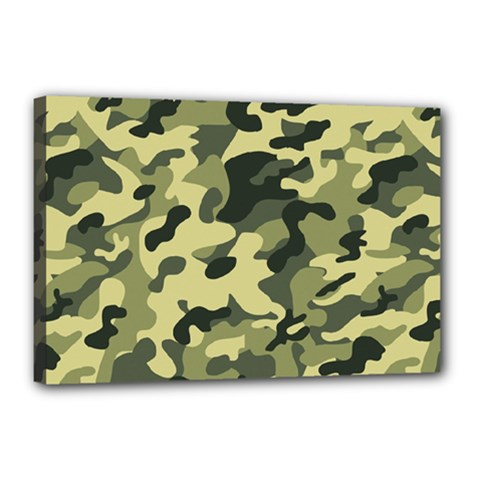 Army Camo Pattern Canvas 18  X 12  (stretched)