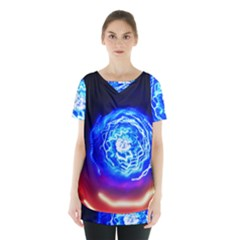 Light Circle Ball Sphere Organ Shape Physics Volgariver Ununseptium Z117 Unoptanium Island Skirt Hem Sports Top