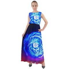 Light Circle Ball Sphere Organ Shape Physics Volgariver Ununseptium Z117 Unoptanium Island Chiffon Mesh Boho Maxi Dress