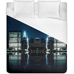Night City Landscape Duvet Cover (california King Size)