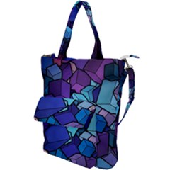 Geometric Pattern Shoulder Tote Bag