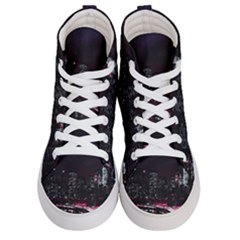 New York City Night Women s Hi Top Skate Sneakers