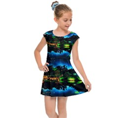 Night City Kids  Cap Sleeve Dress