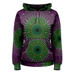 Light Abstract Flower Purple Petal Glass Color Circle Art Symmetry Digital Shape Fractal Macro Photo Women s Pullover Hoodie