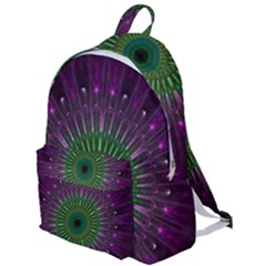 Light Abstract Flower Purple Petal Glass Color Circle Art Symmetry Digital Shape Fractal Macro Photo The Plain Backpack