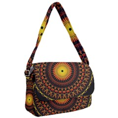 Spiral Pattern Circle Neon Psychedelic Illustration Design Symmetry Shape Mandala Courier Bag