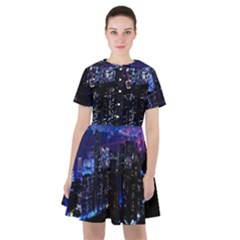 Night City Dark Sailor Dress