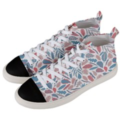 Leaves Art Pattern Men s Mid-top Canvas Sneakers by Vaneshart