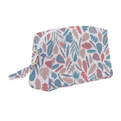 Leaves Art Pattern Wristlet Pouch Bag (medium) by Vaneshart