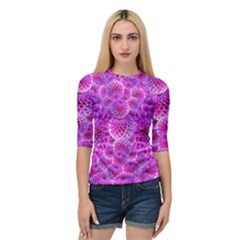 Nature Blossom Plant Flower Purple Petal Bloom Pattern Pollen Pink Flora Flowers Dahlia Design Beaut Quarter Sleeve Raglan Tee