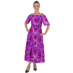 Nature Blossom Plant Flower Purple Petal Bloom Pattern Pollen Pink Flora Flowers Dahlia Design Beaut Shoulder Straps Boho Maxi Dress