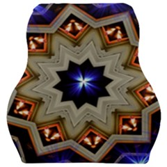 Light Abstract Structure Star Pattern Toy Circle Christmas Decoration Background Design Symmetry Car Seat Velour Cushion  by Vaneshart