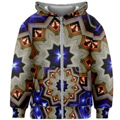 Light Abstract Structure Star Pattern Toy Circle Christmas Decoration Background Design Symmetry Kids  Zipper Hoodie Without Drawstring by Vaneshart