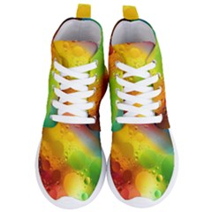 Abstract Sunlight Flower Reflection Color Macro Floating Yellow Circle Macro Photography Spheres Oil Women s Lightweight High Top Sneakers