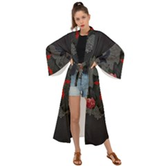 The Crows With Cross Maxi Kimono