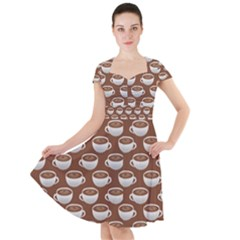 Coffee On Coffee Cap Sleeve Midi Dress by bloomingvinedesign