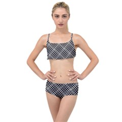 Sketchy Skulls Pattern Layered Top Bikini Set by bloomingvinedesign
