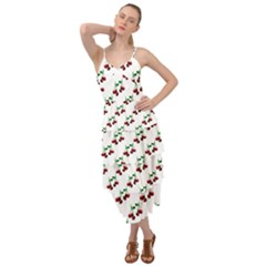 Cherries Pattern Layered Bottom Dress