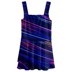 Nightlife Neon Techno Black Lamp Motion Green Street Dark Blurred Move Abstract Velocity Evening Tim Kids  Layered Skirt Swimsuit