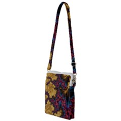 Creative Abstract Structure Texture Flower Pattern Black Material Textile Art Colors Design  Multi Function Travel Bag