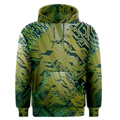 Laptop Computer Technology Leaf Line Green Biology Communication Electronics Illustration Informatio Men s Pullover Hoodie