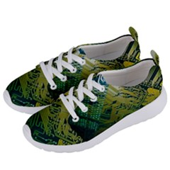 Laptop Computer Technology Leaf Line Green Biology Communication Electronics Illustration Informatio Women s Lightweight Sports Shoes by Vaneshart