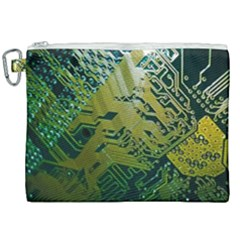 Laptop Computer Technology Leaf Line Green Biology Communication Electronics Illustration Informatio Canvas Cosmetic Bag (xxl)