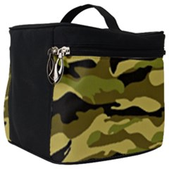 Fabric Army Camo Pattern Make Up Travel Bag (big) by Vaneshart
