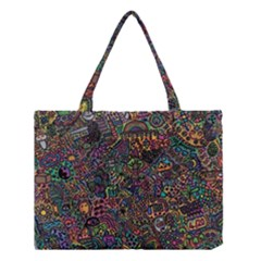 Awesome Abstract Pattern Medium Tote Bag by Vaneshart