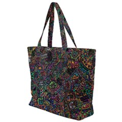 Awesome Abstract Pattern Zip Up Canvas Bag