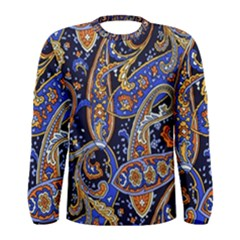 Vintage Retro Texture Decoration Pattern Color Circle Ornament Art Design Bright Symmetry Style  Men s Long Sleeve Tee by Vaneshart