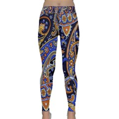 Vintage Retro Texture Decoration Pattern Color Circle Ornament Art Design Bright Symmetry Style  Classic Yoga Leggings by Vaneshart