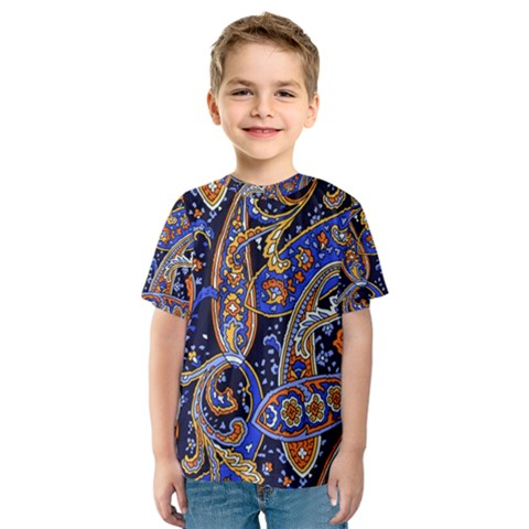 Vintage Retro Texture Decoration Pattern Color Circle Ornament Art Design Bright Symmetry Style  Kids  Sport Mesh Tee by Vaneshart