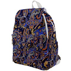 Vintage Retro Texture Decoration Pattern Color Circle Ornament Art Design Bright Symmetry Style  Top Flap Backpack by Vaneshart