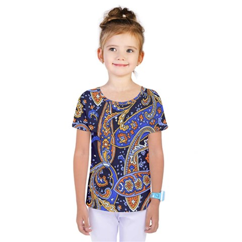 Vintage Retro Texture Decoration Pattern Color Circle Ornament Art Design Bright Symmetry Style  Kids  One Piece Tee by Vaneshart