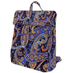 Vintage Retro Texture Decoration Pattern Color Circle Ornament Art Design Bright Symmetry Style  Flap Top Backpack by Vaneshart