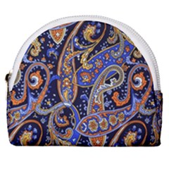 Vintage Retro Texture Decoration Pattern Color Circle Ornament Art Design Bright Symmetry Style  Horseshoe Style Canvas Pouch by Vaneshart