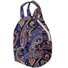 Vintage Retro Texture Decoration Pattern Color Circle Ornament Art Design Bright Symmetry Style  Travel Backpacks by Vaneshart