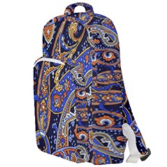 Vintage Retro Texture Decoration Pattern Color Circle Ornament Art Design Bright Symmetry Style  Double Compartment Backpack by Vaneshart