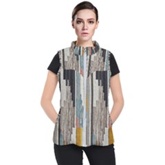 Abstract Pattern Women s Puffer Vest
