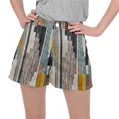 Abstract Pattern Ripstop Shorts