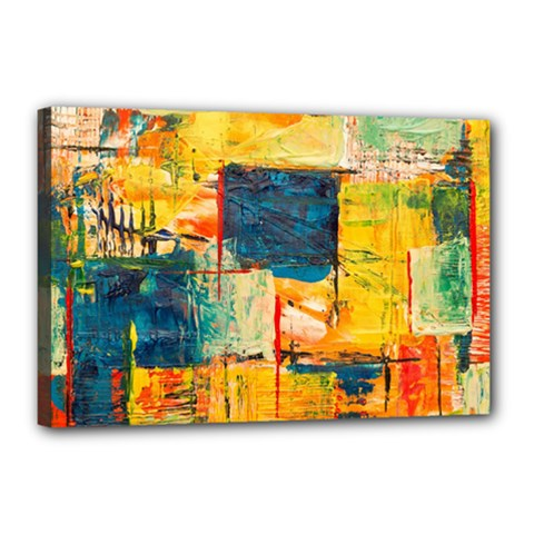 Abstract Painting Acrylic Paint Art Artistic Background Canvas 18  X 12  (stretched)