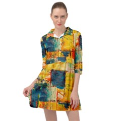 Abstract Painting Acrylic Paint Art Artistic Background Mini Skater Shirt Dress