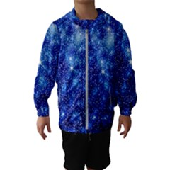Blurred Star Snow Christmas Spark Kids  Hooded Windbreaker