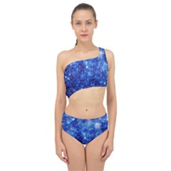 Blurred Star Snow Christmas Spark Spliced Up Two Piece Swimsuit
