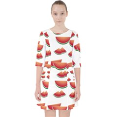 Summer Watermelon Pattern Pocket Dress
